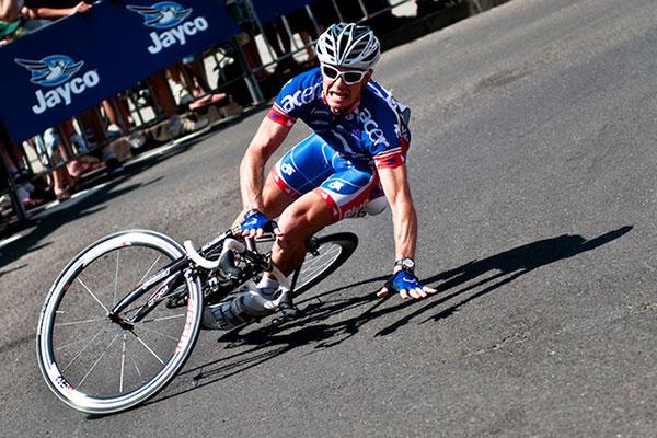Caída en ciclismo