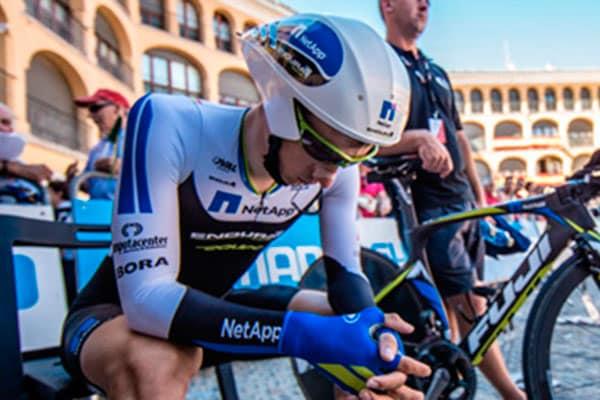 Ciclista concentrado