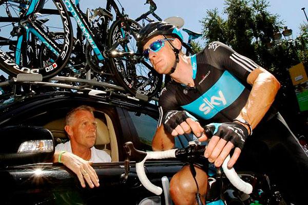 Shane Sutton y Bradley Wiggins