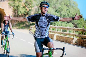 Ciclista alegre