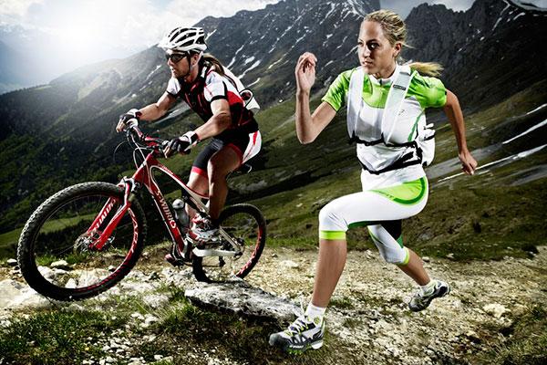 Ciclismo calambres cuádruples después del