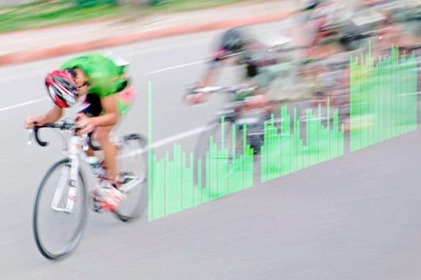 Ciclista en un sprint