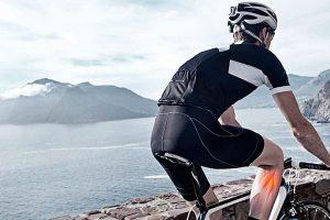 Ciclista con una lesión