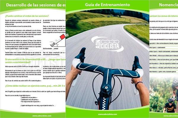 Guía de Entrenamiento ADN Ciclista