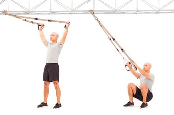 TRX squat and fly para ciclistas