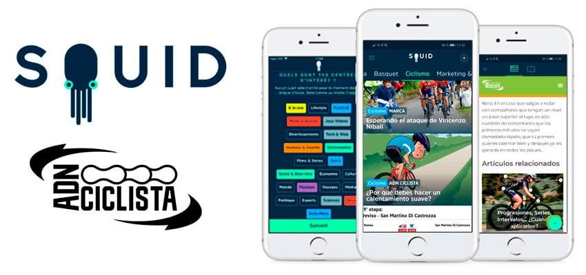 Ya puedes leer ADN Ciclista en SQUID, la app de noticias para móvil